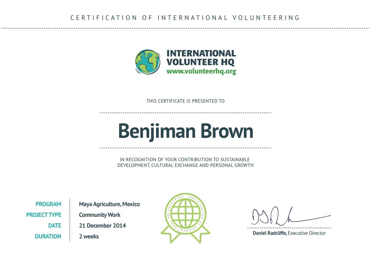 Ziemlich Volunteer Certificate Ideen - zertifizierungsstelle ...