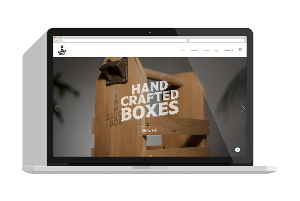 Website Design for Saucy Box